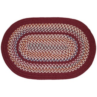 Tahoe Red Wine Wool-blend Area Rug (7' x 9')
