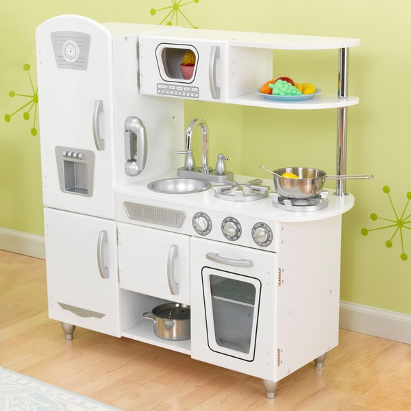 kidkraft white vintage kitchen overstock shopping big discounts on kidkraft kitchens play food. Black Bedroom Furniture Sets. Home Design Ideas