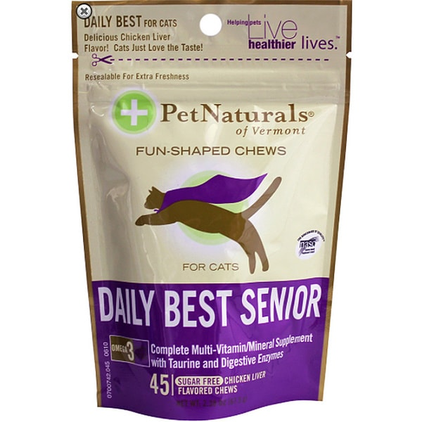 Pet Naturals of Vermont Daily Best Senior Fun-shaped Chews (Pack of 2)