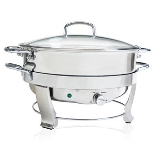 5-quart Stainless Steel 12-inch Round Chafing Dish