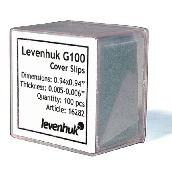 Levenhuk G100 Cover Slips (Pack of 100)
