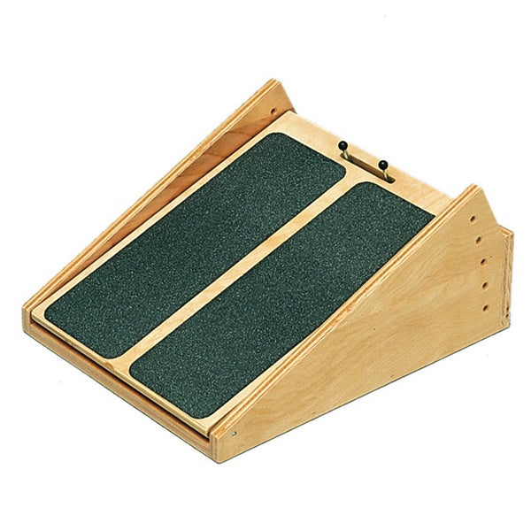 Wood Used For Elevation : Wooden incline board with to degree elevation