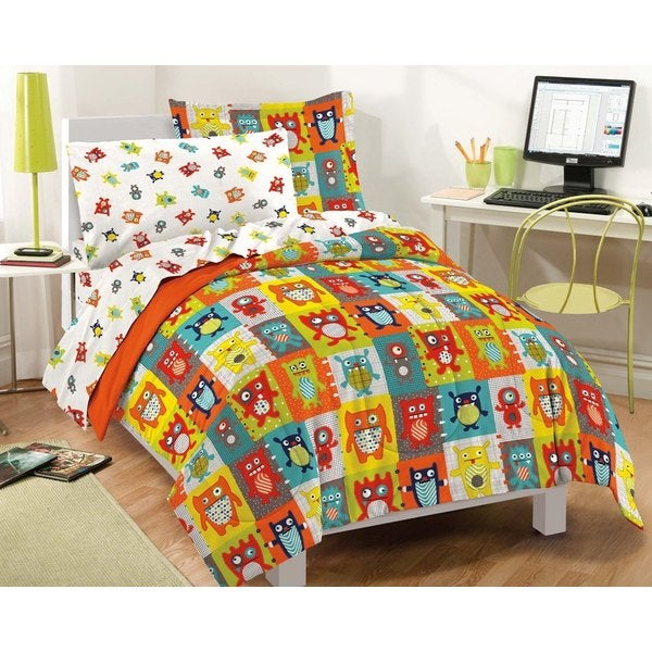 Silly Monsters 7-piece Bed in a Bag with Sheet Set