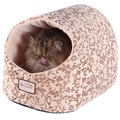 Armarkat Velvet Floral Pattern Cat Bed
