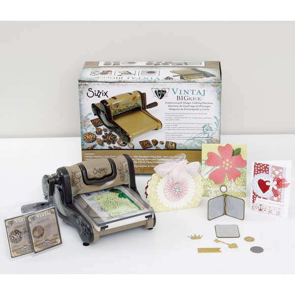 Sizzix Vintaj BIGkick Die Cutting Machine Jewelry-Making Value Kit + 2 Bonus Dies