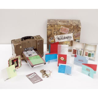 Sizzix Tim Holtz Vagabond Electronic Die Cutting Machine Holiday Value Kit + 7 Bonus Folders