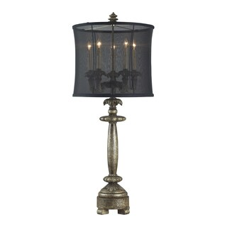 Dimond Lighting 5-light Dakes Dark Silver Table Lamp