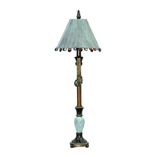 Dimond Lighting 1-light Table Lamp in Cambridge Bronze and Blue Finish