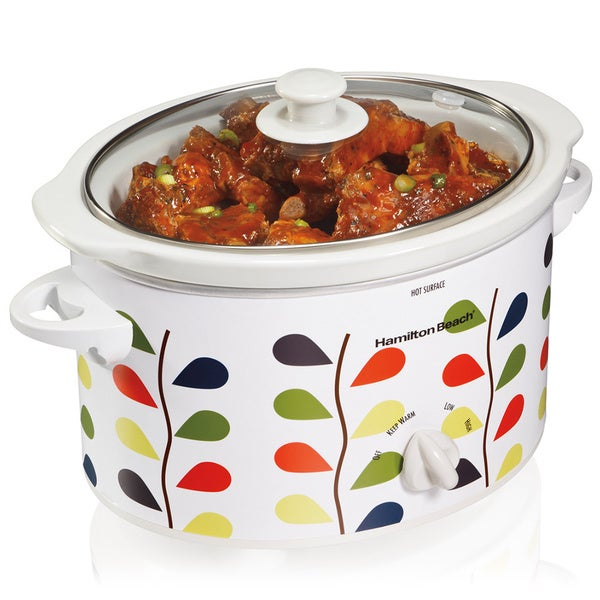 Hamilton Beach 33139 White 3 Quart Slow Cooker