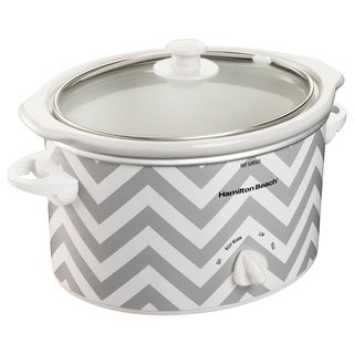 Hamilton Beach 33234 Chevron Pattern 3-quart Oval Slow Cooker