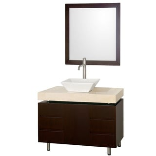 Malibu Single Espresso 36-inch Bathroom Vanity with Mirror