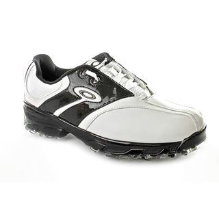 Oakley Men's White/Black 'Superdrive' Faux-Leather Athletic Shoe