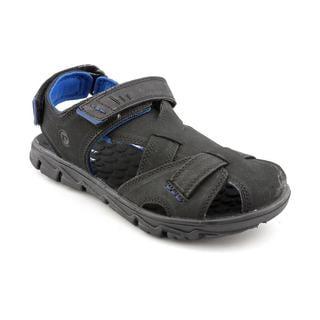 Rockport Men's 'Rocsports Lite Summer X-Strap' Black Leather Sandals