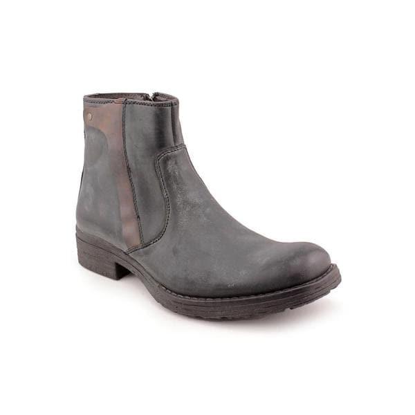 Robert Wayne Men's 'Quaid' Black Leather Boots