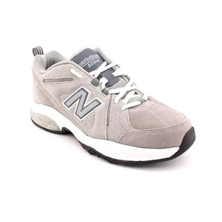 New Balance Men's 'MX608v3' Gray Leather Athletic Shoes