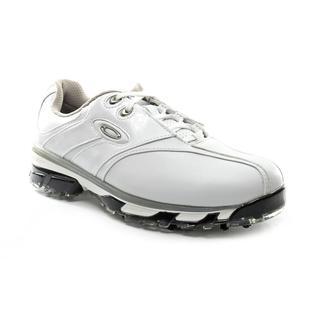 Oakley Men's White 'Superdrive' Faux-Leather Athletic Shoe