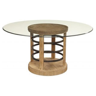 Ventura Round Glass Dining Table