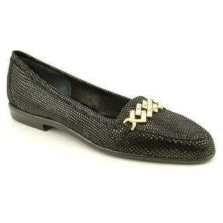 Amalfi By Rangoni Women s Oste Black Suede Casual Shoes - Narrow