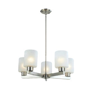 Cobalt 5-light Brushed Nickel Chandelier