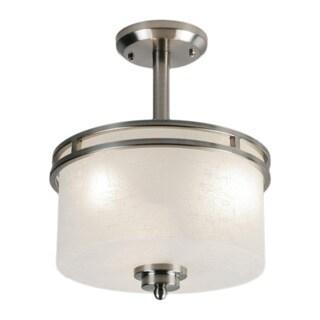 Cobalt 3-light Semi-flush Mount Nickel Light Fixture