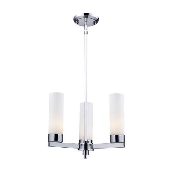 'Ibis' Conetemporary 3-light Chrome Finish Chandelier