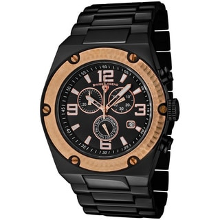 Swiss Legend Men's 'Throttle' Rose-goldtone/ Black Watch
