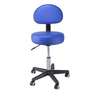 Pneumatic Rolling Massage Blue Back Rest Stool