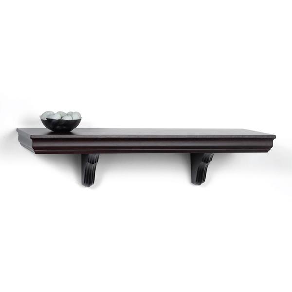 Decorative Wall Shelves Espresso : Espresso decorative wall mount shelf
