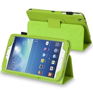 BasAcc Green Leather Case with Stand for Samsung� Galaxy Tab 3 8.0