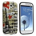 BasAcc Paris Amour TPU Rubber Case for Samsung Galaxy S III i9300