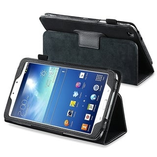 BasAcc Black Leather Case with Stand for Samsung� Galaxy Tab 3 8.0