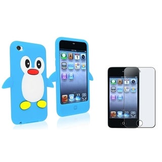 INSTEN Blue Penguin/ Screen Protector for Apple iPod Touch 4
