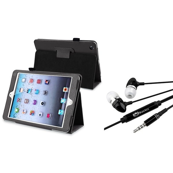 INSTEN Leather Case Cover/ Black Microphone for Apple iPad Mini 1/ 2 Retina Display