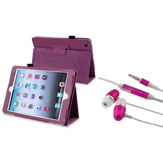 BasAcc Purple Case/ Headset Microphone for Apple iPad Mini 1/ 2 Retina Display