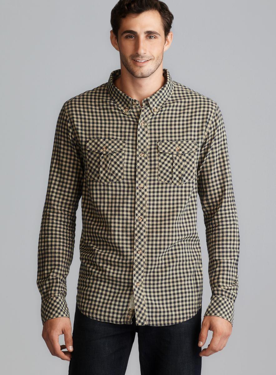 Nuco Long Sleeve Yarn Dyed Plaid Button Down Shirt