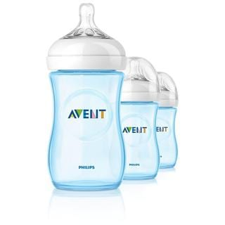 Philips AVENT Natural PP Blue 9-ounce Baby Bottles (Pack of 3)