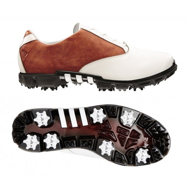 Adidas Men's AdiPURE Motion White/ Brown Golf Shoes