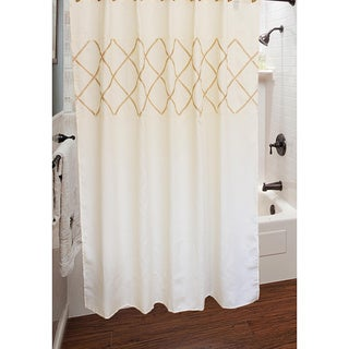 Sherry Kline Lattice Diamond Shower Curtain with Hook Set