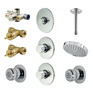 Price Pfister Chrome Shower Kit Ceiling Shower Head and Body Sprays