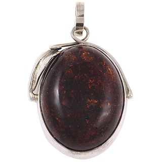 Handcrafted Cognac Free-Form Baltic Amber Pendant (Lithuania)