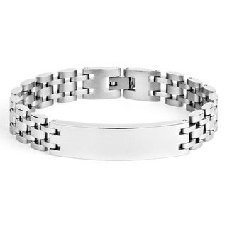 Crucible Stainless Steel Men's ID Chain Bracelet