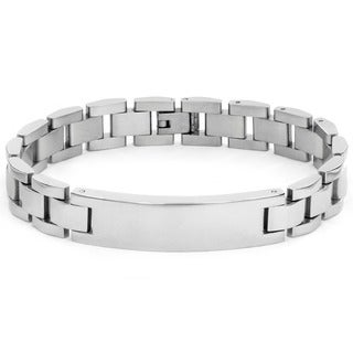 Stainless Steel Men's ID Chain Bracelet