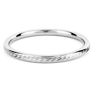 ELYA Stainless Steel Twisted Rope Design Bangle Bracelet