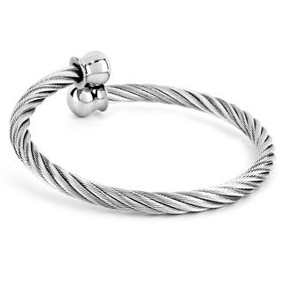 Stainless Steel Twisted Cable Wire Cuff Bracelet