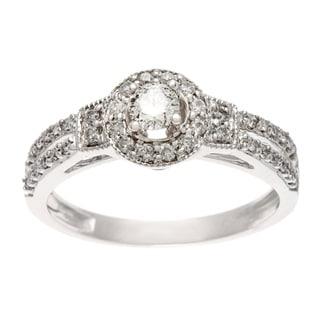 Sofia 10k White Gold 1/2ct TW Diamond Engagement Ring (H-I, I1-I2)