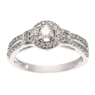 10k White Gold 1/2ct TW Diamond Engagement Ring (H-I, I1-I2)