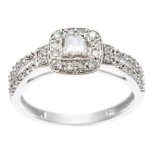 10k White Gold 1/2ct TDW White Diamond Engagement Ring (H-I, I1-I2)