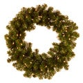 24-inch Pre-lit Christmas Wreath with Clear Lights