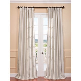 Bermuda Stone Stripe Linen Blend Curtain Panel