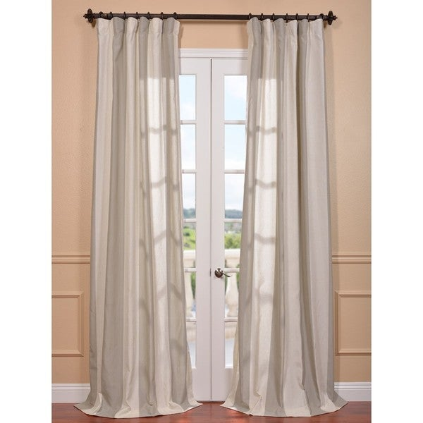 Del Mar Stone Linen Blend Curtain Panel